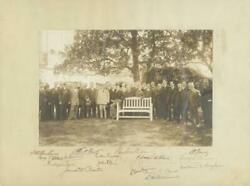 Woodrow Wilson - Photograph Mount Signed With Co-signers