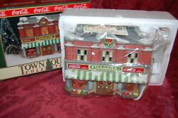 Coca-cola Town Square Collection Gilbert's Grocery Christmas Village New In Box