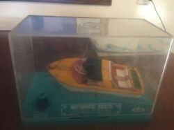 Vintage Speed Boat Boaterific Ideal Toy Boat + Motor + Case