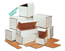 Many Sizes Pick From White Cartons Folding Corrugated Mailers 50 100 200 Packs