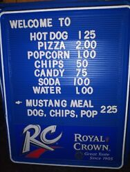 Set Of 2 Royal Crown Rc Menu Board Signs Xtra 1 Letters And Numbers Included