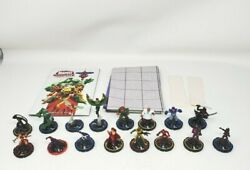 Wizkids Marvel Heroclix Mixed Lot Of 16 Figures W/ Rule Book And Map 2-3 Euc