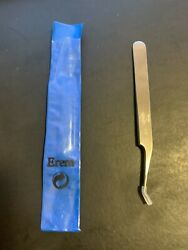 Erem 51sa Precision Tweezers, Curved 30° Pointed Tips, Relieved, 4.5