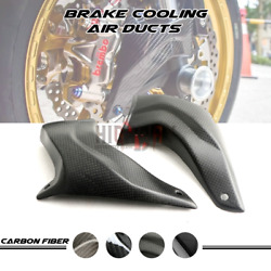 100mm Carbon Fiber Cooling Brake Rotor Disc Air Ducts For Ducati 848 Evo 11-13