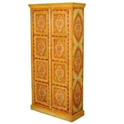 Handmade Beautiful Garden Hand Painted Mango Armoire And Wardrobes Cabinet
