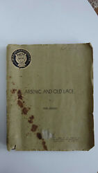 Arsenic And Old Lace Original 1941 Rialto Transcript Working Copy