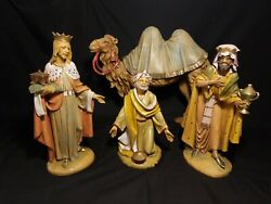 Fontanini 3 Wisemen Figurines And Camel Set 12. Made In Italy Beautiful.