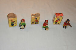 3 Schuco Monkey Wind-up Toys W/ Original Boxes And Key - Working Condition