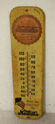 Vintage Nesbitts Orange Soda Bottle Cap Thermometer Advertising Sign 27and039and039