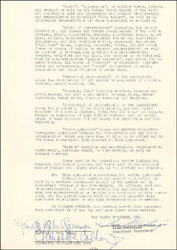 Claudette Colbert - Contract Signed 09/19/1951