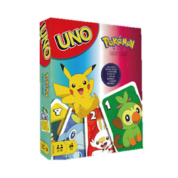 Pokemon Uno Card Game Animation Mattel Sport Friends Family Fun Together Table