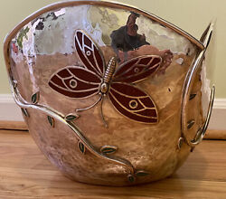 Emilia Castillo Silverplate Large Bowl With Butterflies