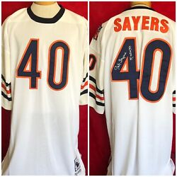 Signed Gale Sayers 40 Chicago Bears Mitchell And Ness Nfl Jersey 1969 Roy
