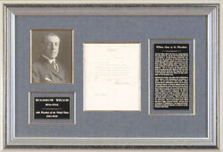 Woodrow Wilson - Typed Letter Signed 11/01/1912