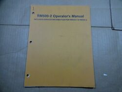 Woods Rm500-2 Mower Operators Assembly Manual Parts Catalog 2/83