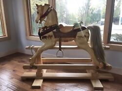 Hand Crafted Wooden Rocking Horse | Noahandrsquos Ark Theme | Stevenson Bros | Carousel
