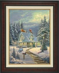 Thomas Kinkade Studios Midnight Delivery 34 X 25.5 S/n Le Canvas Framed
