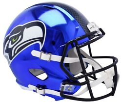 Seattle Seahawks Chrome Speed Replica Unsigned Helmet New In Box Nfl