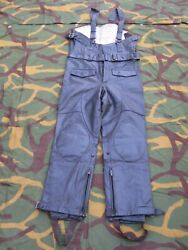 Vintage 1990 Leather Military Police Motorcycle Pants