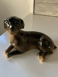 Brown Dog Ceramic Vintage Figurine