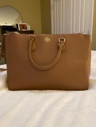 Tory Burch Leather Tote Brown EUC $120.00