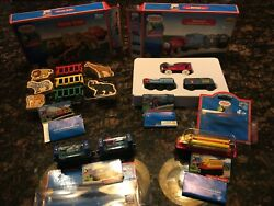 Lot Of Thomas The Tank Engine And Friends Wooden Trains In The Box W/cards