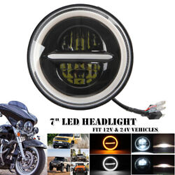 20000lm 7 Round Halo Angel Eyes Led Headlight For Jeep Wrangler Ford Motorcycle