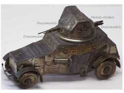 France Trench Art Ww1 Armored Car White Ac 1915 1918 French Inkwell Military Wwi