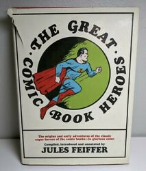 The Great Comic Book Heroes by Jules Feiffer HC DJ 1965 $9.99