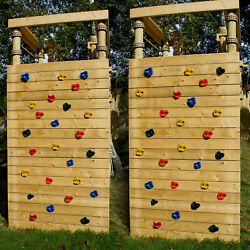 20x Climbing Wall Holds 40x T nut Bolt Rock Wall Indoor Outdoor Playground Set