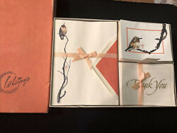 Vintage Whitings Stationary Box Set Bird Ensemble Letter Writing Thank You Notes
