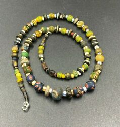 Old Antique Ancient Millefiori Glass Beads From Ancient Romanand039s