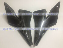 New Tank Side Cover Trim Fairing Fit For Zx10r 2004 2005 2006 Carbon Fiber A01