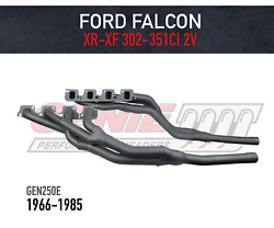 Genie Headers / Extractors To Suit Ford Falcon Xr-xf V8 Tri-y 2v