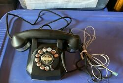 Monophone Chromed Vintage Rotary Phone Tn 4020 A0 Evc+ Works Great