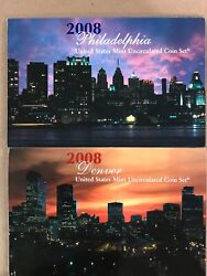 2008 P And D United States Mint Annual Uncirculated Coin Set 28 Bu Coins