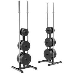 Olympic Plate And Bar Holder Weight Bumper Plates Dumbbells Tree Stand Rack