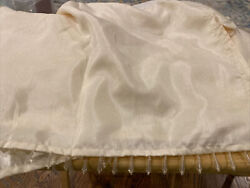 Queen Dust Ruffle Jeweled Prisms Ivory Bedskirt Romantic Victorian