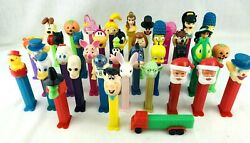 Lot 39 Vintage 70's/90's Pez Dispensers Collectible Candy Toys Star Wars Disney
