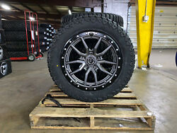 20x9 Fuel D680 Rebel Gray Wheels 32 Amp At Tires 5x150 Toyota Tundra Sequoia