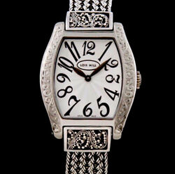 Lois Hill Sterling Silver Watch Thai Flat Weave Band Swiss Made