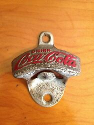 Vintage Cast Iron Coca-cola Starr X Old Wall Mounted Bar Bottle Opener Rare
