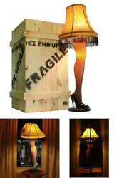 A Christmas Story Deluxe Large 50 Lady Leg Lamp Major Award W/ Full Wood Crate