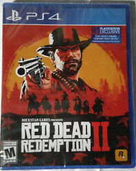 Red Dead Redemption Ii Ps4 Video Game Standard Edition Pre Order Factory Sealed