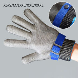 Safety Cut Proof-stab Resistant Glove Steel-wire Metal Mesh Butcher Gloves New