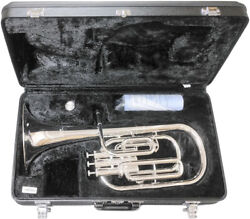 Yamaha Alto Horn Eb 3 Piston Top Action Yah-203s Silver With Case New 4475