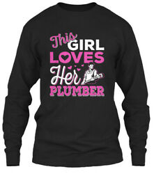 Teespring Shirts On Fire This Girl Loves Her Plumber Classic Long Sleeve Tee
