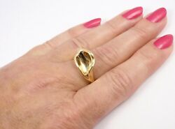 Rare Vintage Andco Peretti 18k Yellow Gold Calla Lily Flower Ring Size 7.5