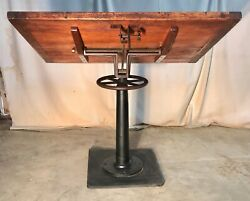 Antique Industrial Drafting Table / Work Bench General / Country Store