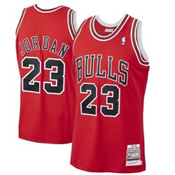 Michael Jordan Chicago Bulls Mitchell And Ness 1997-98 Hwc Authentic Red Jersey